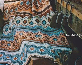 Crochet Navajo Afghan Pattern #KC0014, Intermediate Skill Level, Crochet PDF Pattern