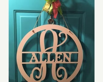 July Sale Monogram Door Hanger