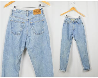 90s Classic Gap Jeans, Vintage Clothing, Mom Jeans 25, 90s Jeans, High Waisted Jeans, 90s Clothing, Tapered Ankle, XS Jeans, Tall Long Jeans