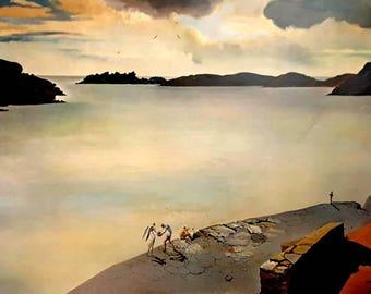 Salvador Dali The Landscape of Port Lligat 1950 Original Lithograph