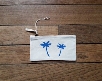 Zipper pouch Palm (size S)