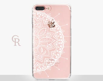 Mandala Phone Case - Clear Case - For iPhone 8 - iPhone X - iPhone 7 Plus - iPhone 6 - iPhone 6S - iPhone SE Transparent - Samsung S8 Plus