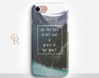 Inspirational iPhone 7 Case For iPhone 8 iPhone 8 Plus iPhone X Phone 7 Plus iPhone 6 iPhone 6S  iPhone SE Samsung S8 iPhone 5 Landscape