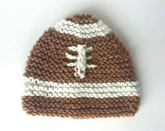 Beanie Baby ball football Brown and white baby 0/3 months - baby photo sessions