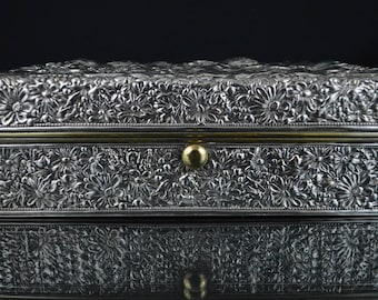 Unusual, Sterling Silver Gorham Repousse Box, circa 1892