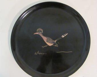 Couroc of Monterey Roadrunner Plate