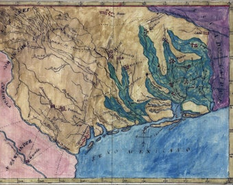 Poster, Many Sizes Available; Map Of Texas By Stephen F. Austin 1822