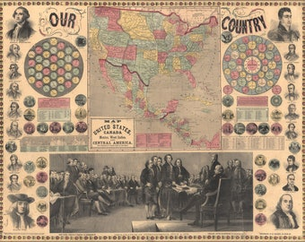Poster, Many Sizes Available; Map Of The United States, Canada, Mexico, West Indies And Central America 1859