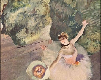 20% Off Sale - Poster, Many Sizes Available; Dancer With A Bouquet Of Flowers (Star Of The Ballet), 1878 Edgar Degas