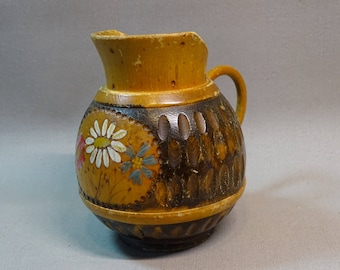 Hand-Carved Wood Pitcher dated 1949