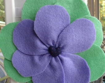 EOFY Sale Felt Poppy Flower Hair Clip