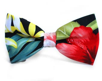 Hawaiian Bow Tie, Hawaiian, Formal Bow Tie, Bow Tie for Wedding, Groomsmen Bow Tie, Mens Bow Tie, Boys Bow Tie, Dog Bow Tie, For Him