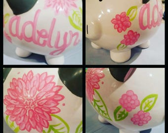Painted piggy banks