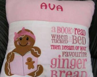 Gingerbread Girl Pocket Cushion