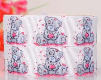 Ribbon Tatty teddy / Teddy bear (1 m) 22mm