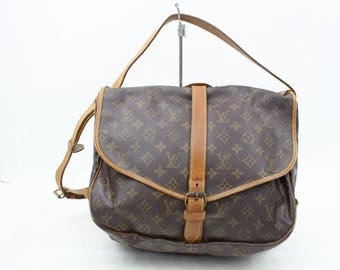 Authentic Louis Vuitton Travel Laptop Messenger Cross Body Bag