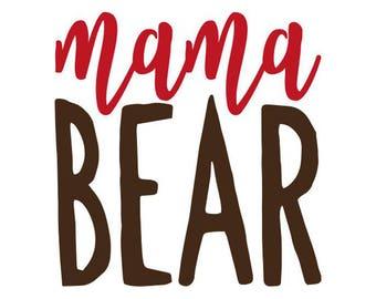 Mama Bear Decal No. 4