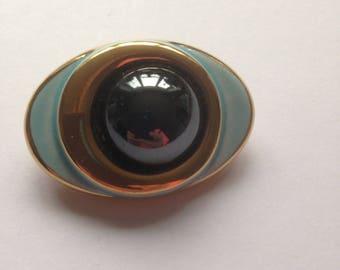 Vintage Porcelain Brooch, Channel Islands Brooch, Mothers Day Gift