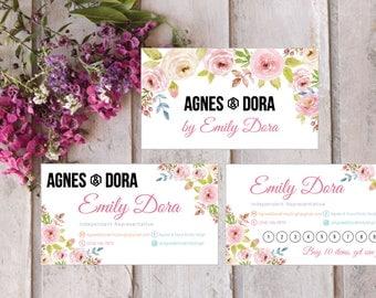 PRINTABLE Agnes and Dora Business Card, Agnes and Dora Punch Card, Business Cards, Digital File AG010