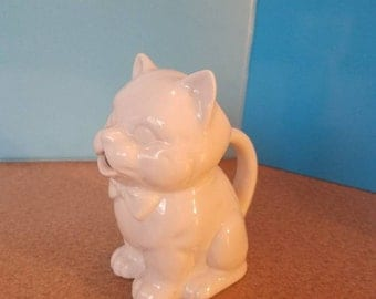 Off White Cat Creamer Pitcher