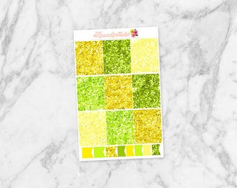 August Glitter Full Boxes | For Erin Condren Life Planners, Happy Planners & more! Kimmi's Studio