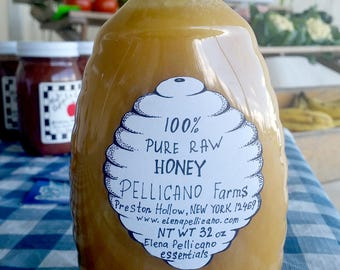 Raw Honey 32 oz (2 lbs) from Elena Pellicano Essential Farms