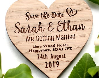 Save The Date Magnets, Wedding Magnets, Rustic Save the Date Magnets, Wood magnets, Wedding Save the date, Custom Wedding Magnets, Heart S1