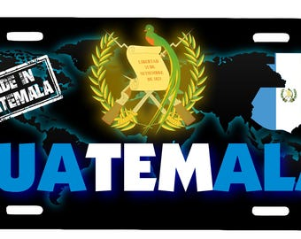 "Guatemala Aluminum License Plate Placa  6"" x 12"""