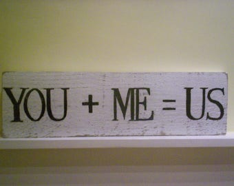 You & Me Signs - Pallet Wood Sign