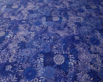 adult weighted blanket - child 35x50 to queen 60x80 - minky - flowers - blue