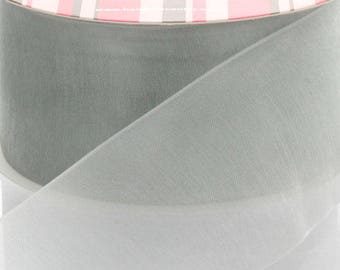 Silver Sheer Organza Ribbon - Choose Width / Length