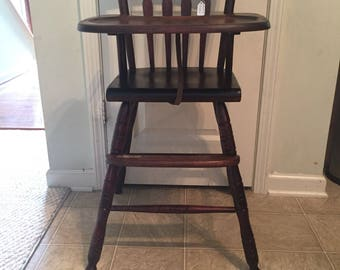Spindle high chair Etsy