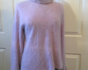 Lavender Angora sweater size S/M