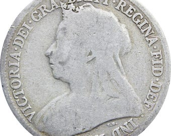 1897 Shilling Queen Victoria Great Britain Silver Coin