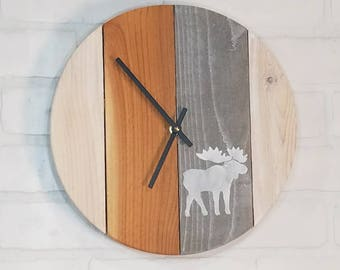 Round Wall Clock - Moose