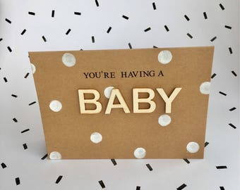 You're having a baby new arrival card