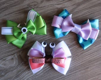 Monsters Inc. Mike, Sully & Boo Inspired Hair Bows