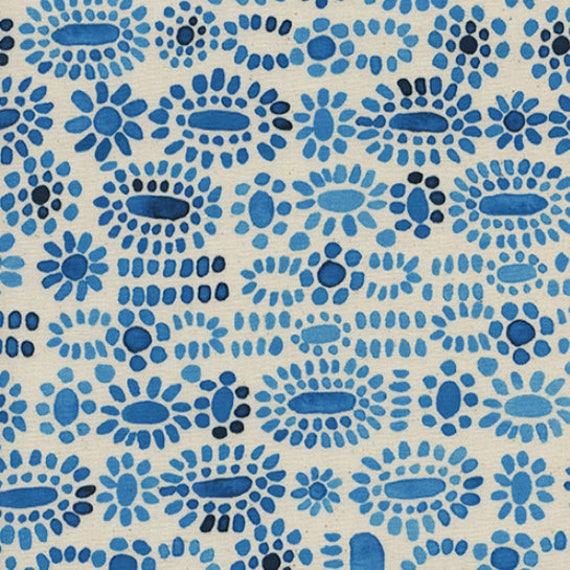 Boppy Cover - Sienna Cabachon in Blue Lapis - MADE-to-ORDER - Boppy Lounger blue flower boppy, blue boppy, navy cream boppy, gender neutral