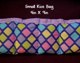 Multicolor; Medium Booboo; 6 x 10; Heat Or Cold Therapy; Freezable; Boo Boo Rice Bag; Natural Headache help