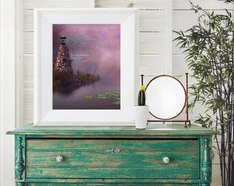 Be Still and Know, Christian Wall Art  / 8 x 10 INSTANT DOWNLOAD (G5215-1)