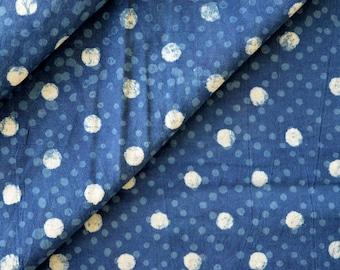 Indigo fabric, Cotton Fabric, Printed Cotton Fabric, Hand Block Print Fabric, Fabric By Yard, Indian Fabric, Block Print Fabric, Fabric