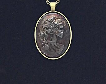 Rusty Iron Lolita Skeleton Cameo Necklace