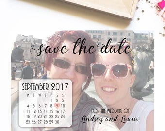 Photo save the date, calendar save the date, save the date calendar, calendar invitations, wedding stationery, save the date photo calendar.