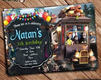 SALE 50% OFF Hotel Transylvania Birthday Invitation - Printable - Birthday Card - Party Favor - Birthday Celebration - Invitation for Kids