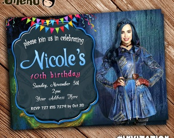 Descendants 2 Birthday Invitation