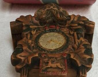 Vintage Hallmark Ornament Old-World Cuckoo Clock 1984