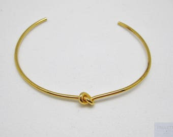 Bow made of stainless steel Bangle Bracelet