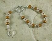 Custom: Thor Pocket Prayer Beads in Oak