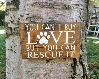 Rustic Home Decor,Farmhouse Decor,Pet Decor,Pet Signs,Rescue Animal Decor,Wood Sign,Wall Sign,Wall Decor,Dog Decor,Cat Decor,Rescue Pet