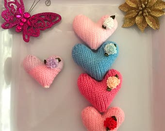 Knitted Love Hearts